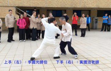 散手對練(上手)李國光師伯(下手)黃國治老師